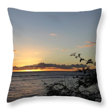 Sunset Off Lipoa Throw Pillow by Fred Wilson