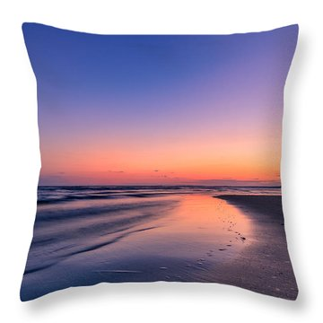 Sunset, Old Saybrook, Ct Throw Pillow by Craig Szymanski