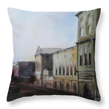 Sunset On 2nd Dtreet Throw Pillow