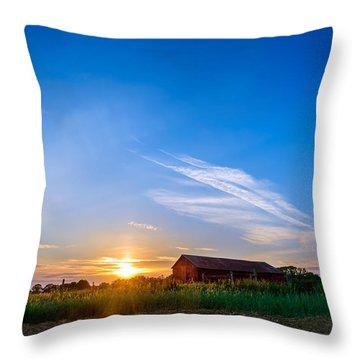 Sunset On A Maryland Farm Throw Pillow