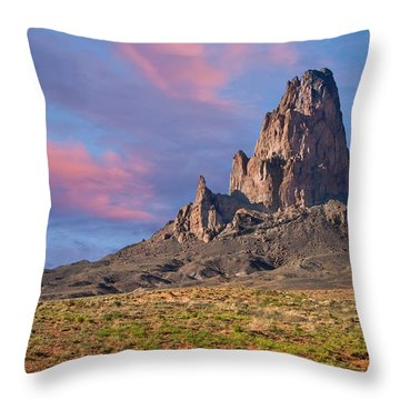 Sunset On Agathla Peak Throw Pillow