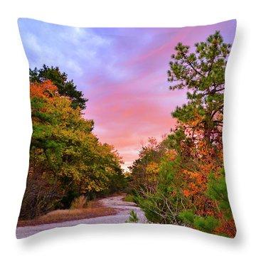 Sunset On Bombing Run Road Throw Pillow