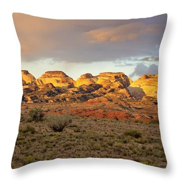 Sunset On Capitol Reef Throw Pillow