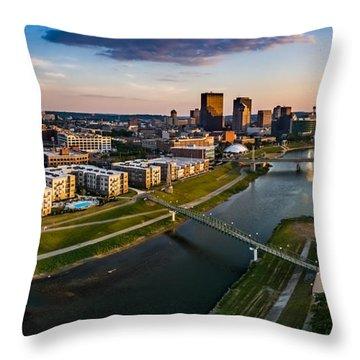 Sunset On Dayton Throw Pillow