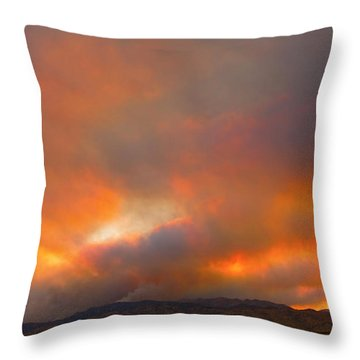 Sunset On Fire Throw Pillow by James BO  Insogna