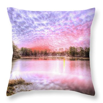 Throw Pillow featuring the photograph Sunset On Flint Creek by Maddalena McDonald