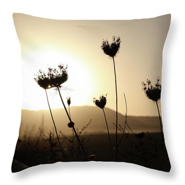 Sunset On Galilee Road Throw Pillow by Yoel Koskas