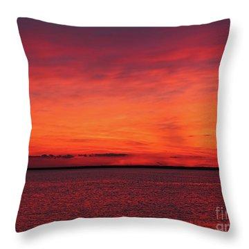 Sunset On Jersey Shore Throw Pillow
