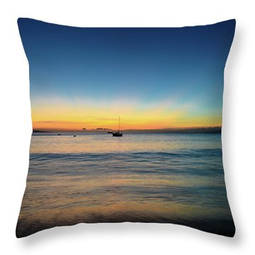Throw Pillow featuring the photograph Sunset On Ka'anapali Beach by Kelly Wade