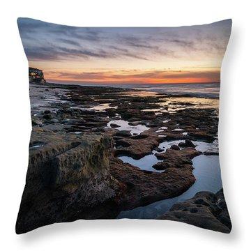 Sunset On La Jolla Coast Throw Pillow