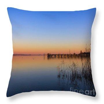 Sunset On Lake Constance II Throw Pillow by Bernd Laeschke