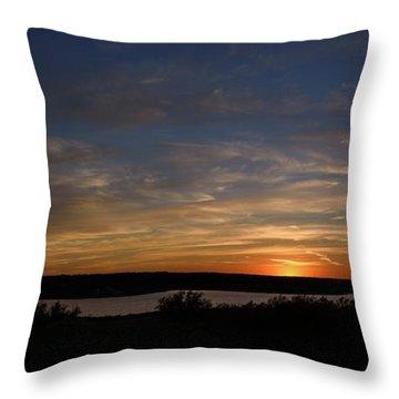 Sunset On Lake Georgetown Throw Pillow
