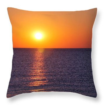 Throw Pillow featuring the photograph Sunset On Lake Michigan by Bruce Patrick Smith