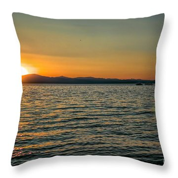 Sunset On Left Throw Pillow