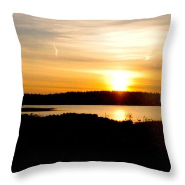 Sunset On Morrison Beach Throw Pillow
