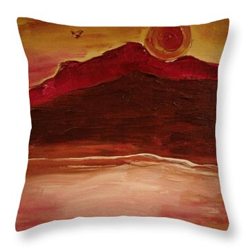 Sunset On Red Mountain Throw Pillow