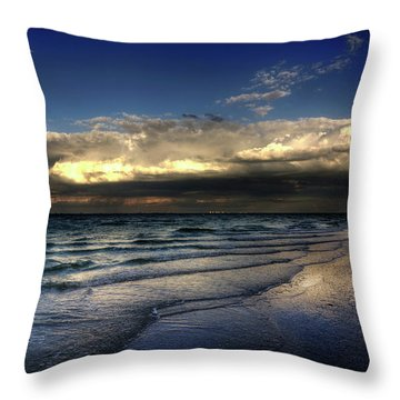 Throw Pillow featuring the photograph Sunset On Sanibel by Chrystal Mimbs