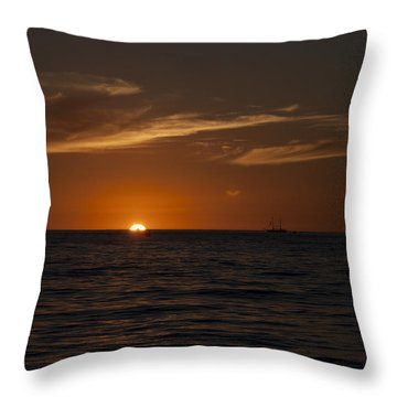 Sunset On Sea Of Cortez Throw Pillow by Ivete Basso Photography