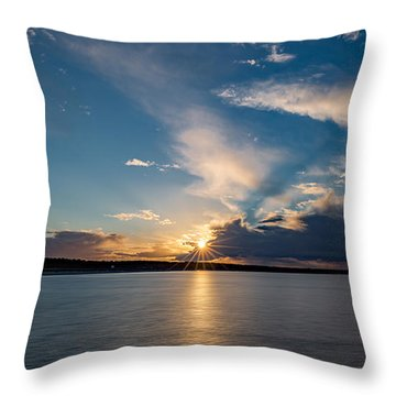 Sunset On The Baltic Sea Throw Pillow