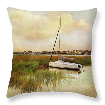 Sunset On The Basin Throw Pillow