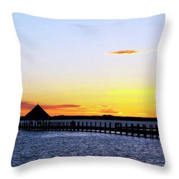 Sunset On The Bay Throw Pillow by Elsa Marie Santoro