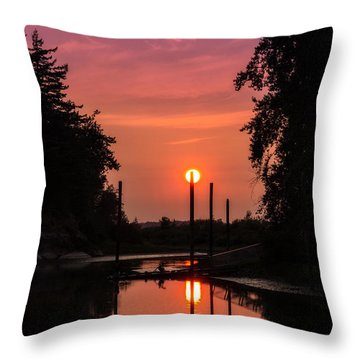 Sunset On The Bay Throw Pillow