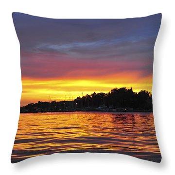 Sunset On The Bay Island Heights Nj Throw Pillow