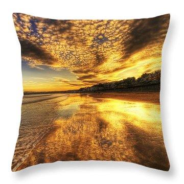 Sunset On The Beach Throw Pillow by Svetlana Sewell