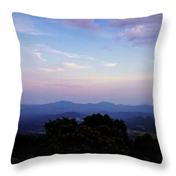 Sunset On The Blue Ridge Throw Pillow