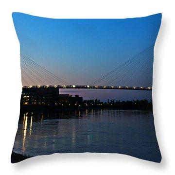Sunset On The Bob Kerry Pedestrian Bridge Throw Pillow