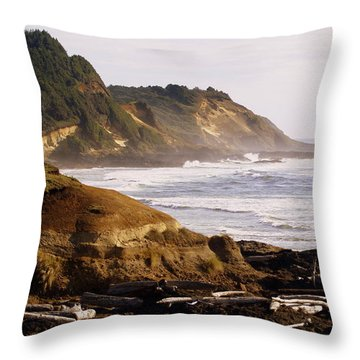 Sunset On The Coast Throw Pillow by Marty Koch