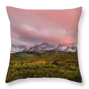 Sunset On The Dallas Divide Ridgway Colorado Throw Pillow
