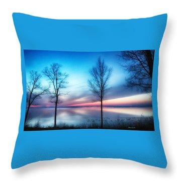 Sunset On The Diagonal Throw Pillow