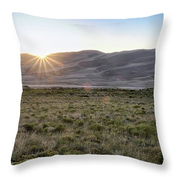 Sunset On The Dunes Throw Pillow by Monte Stevens