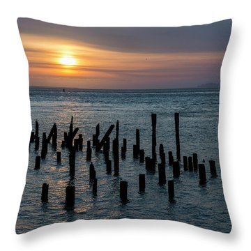 Sunset On The Empire Throw Pillow