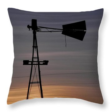 Sunset On The Farm Throw Pillow by Adrienne Petterson