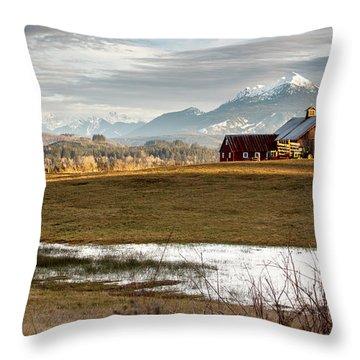 Sunset On The Farm Throw Pillow