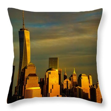Sunset On The Financial District Throw Pillow