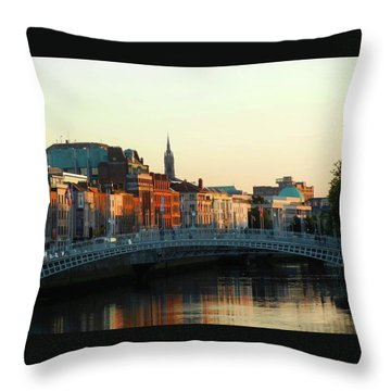 Sunset On The Ha'penny Throw Pillow