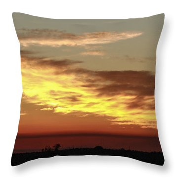 Sunset On The Island Throw Pillow by Nance Larson