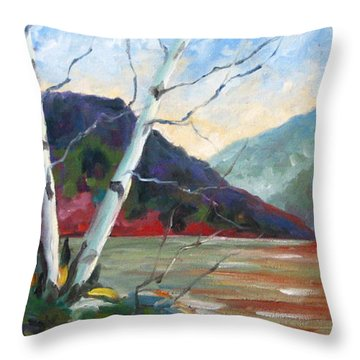 Sunset On The Lake Throw Pillow by Richard T Pranke
