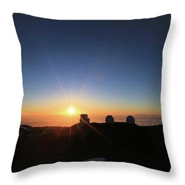 Sunset On The Mauna Kea Observatories Throw Pillow