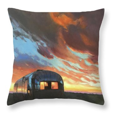 Sunset On The Mesa Throw Pillow