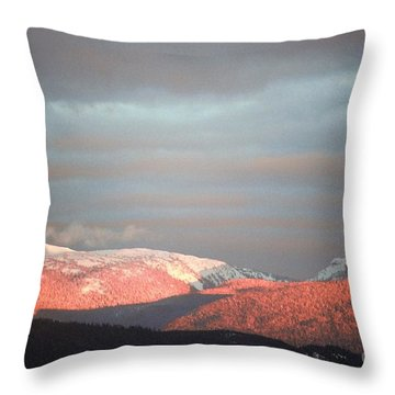 Sunset On The Monashees Throw Pillow