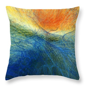 Sunset On The Ocean Throw Pillow