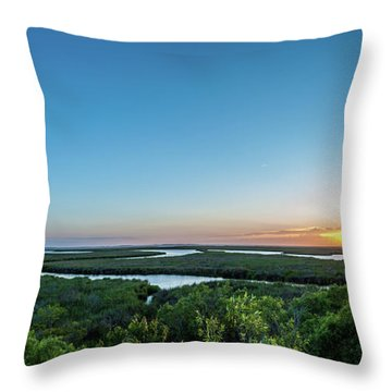 Sunset On The Outer Banks Throw Pillow