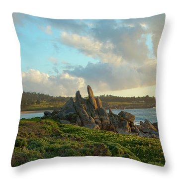 Sunset On The Pacific Ocean  Throw Pillow