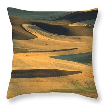 Sunset On The Palouse Throw Pillow