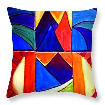 Sunset On The Peaks Throw Pillow