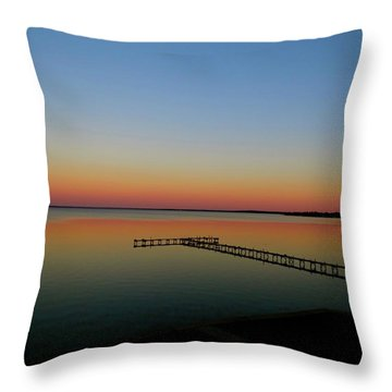 Sunset On The Pier Throw Pillow
